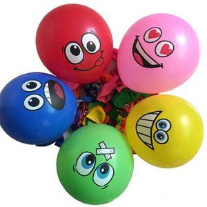 Karikatüra gülen balon tatil atmosferi dekorasyon Lateks Balon Çok renkli Mutlu Yüz Balonlar Doğum Günü Partisi Dekorasyon ÜCRETSİZ GÖNDERİM