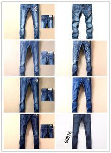 2019 marca de calidad superior Burberry jeans de diseñador para hombre burberry jeans hombres burberry denim jeans negros Pantalones bordados Pantalones de moda agujeros