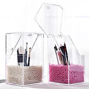 Nouvelle arrivée Maquillage plastique Porte-brosse antipoussière boîte de rangement maquillage Organisateur Rangement porte-crayons rouge à lèvres Organisateur