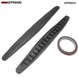 EPMAN 2 piezas de coche del protector del tope delantero del cuerpo de la esquina del labio posterior del protector de parachoques lateral Volver Protección de fibra de carbono pegatinas EPPD510
