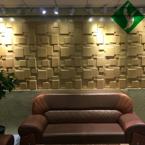 New Arrival Modern Environmental Durable PVC 3d Wall Panel for Home Deco 50*50CM Super Lightweight 3D Wall Board