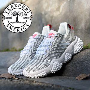 Treeperi Дуриан коренастого V1 платформы Дизайнер обуви серый зебра мужская дизайнерские туфли дез Chaussures кроссовки платформа Люкс Обувь
