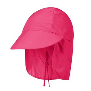 Outdoor Flap Cap Children Lightweight Foldable Adjustable Sunshade Neck Cover Sun Hat Sportswear With Chin Strap