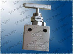 Stainless steel ultra high pressure shut-off valve