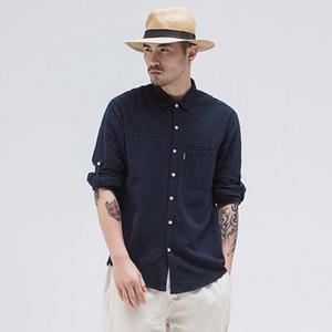 Chemises occasionnelles pour hommes chemise en lin de causalité Hommes manches longues à manches longues respirantes naturelles 2021 Trend Robe classique