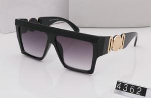sol del verano estilo gafas de sol 4362 hombres de las mujeres diseñador de la marca de protección UV gafas de lente transparente y el revestimiento de gafas de sol de la lente