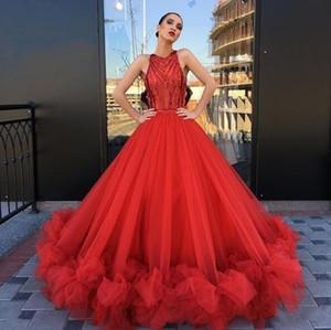 2020 novo vestido de baile vermelho princesa vestidos de baile abendkleider noite vestidos formais vestidos de festa ocasião especial sweet 16 vestidos