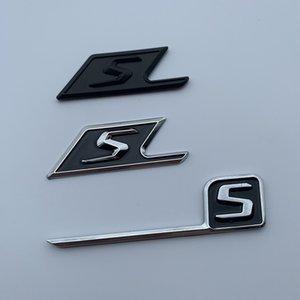 L'alta qualità placcatura ABS S SAMG nero 3M AMG decalcomania del Logo Emblem Badges auto per classe CL GL SL ML A B C E S auto st