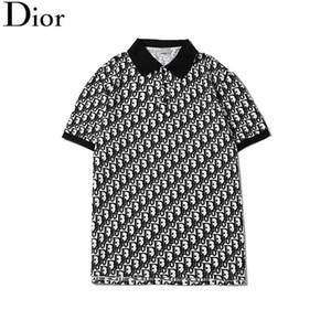 erkek tişört 2020 ilkbahar ve yaz yeni tasarım kısa kollu moda baskı yaka kadın ve erkek üst rahat kıyafet M-3XL