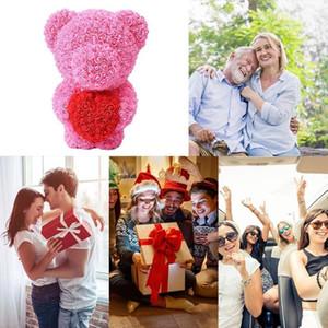 День розы сердце любовь медведь Ароматизированный Soap Свадебный подарок Валентайн Роза Ароматические мыла Свадебные украшения подарков Лучшие