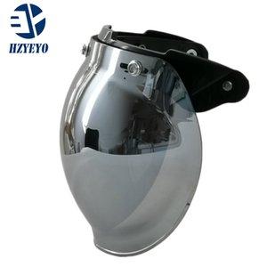 1 unids Uso común Casco de motocicleta Visor Hack Antiqued para Hallar Casco Mask Vintage Casco Bubble Visor Lens Casco Accesorios