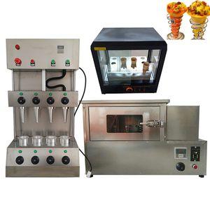 Ensemble complet de pizza électrique tournante commerciale four machine à pizza cornet de crème glacée armoire d'isolation vitrine à pizza 110v 220v
