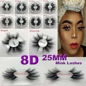 25mm longo vison 3D cílios 4D 6D 5D grande vison cílios cílios postiços 16 conjuntos frete grátis