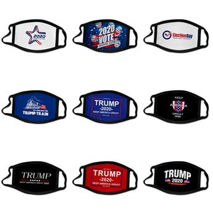 Мода Luxury маска для лица Письмо печати Маска дышащий Женщины Маски Unisex Многоразовый моющийся Велоспорт Открытый конструктор Trump Face Mask # 546