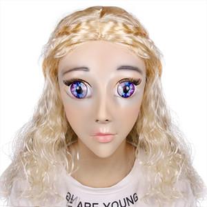 Top Grade Girl Luxury Custom Makeup Calaxy Baby DMS Máscara Miss Rose! Máscara sexy de silicona para mujer con estilo de cruz y corsé Máscara de muñeca