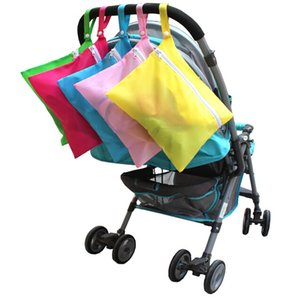 Portable Baby Diaper Bags Solid Baby Out Clothes Feeding Bottles Nappy Changing Bibs Hang Stroller Storage Bag 5Colors