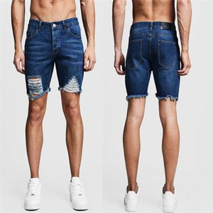 Mens Hole Casual Denim Shorts Biker Slim Fit Summer Jeans Designer New Male Classic Straight Shorts Jeans