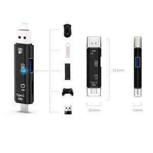 Micro USB Type C USB Reader Card Reader OTG HUB محول دعم TF / Micro SD بطاقة PC PC MacBook