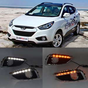 Hyundai IX35 DRL 2013 2012 2011 2010 2009 Sis Lambası Dönüş Sinyal Işık DRL için 2 adet LED sis farı