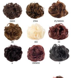 6inches Court onduleux Blonde Ponytail Red Extensions de cheveux bouclés noirs pour femmes Chignons clip En Synthetic Drawstring Enroulable Ponytail