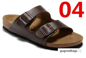 Arizona Women's Flat Sandals Women Double Buckle Famous style Summer Beach design shoes Top Quality Genuine Leather Slippers 36-47 AT03
