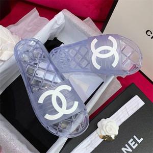 2020 populäre Art billig PVC Dame Sandale der Marke Frauen flache Sandale Hochwertige luxurys Designer Damen schieben Sandale 35-41 Freies Verschiffen