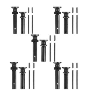 5 sistemas Extended Takedown pasador pivote con enclavamiento del resorte 0,223 / 5,56 reemplazo inferior kit de piezas para AR15