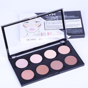 Hot Makeup Palette NYX Evidenziatore Contour 8 Shades Pro Face Powder Palette Fondotinta Concealer Contour Kit Spedizione gratuita DHL