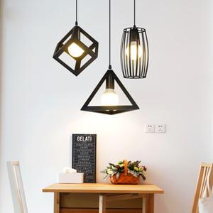 빈티지 펜던트 조명 철 검정 행거 테이블 펜던트 램프 주방 설비 luminaria industrial lamp loft Lighting
