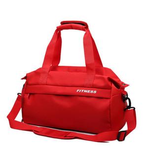 HEFLASHOR 2019 Negro Rojo Bolsa de Gimnasia de Mujer Compartimiento de Calzado Bolsas de Deporte A Prueba de agua para Fitness Entrenamiento Yoga Bolsa Sac De Sport