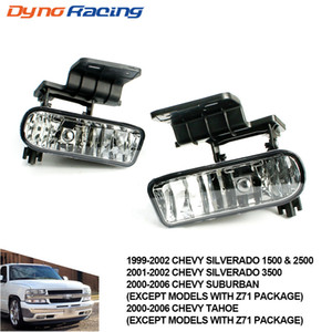 Fog light for Chevrolet CHEVY 99-02 Silverado, 00-06 Suburban Tahoe Clear Lens Bumper Fog Lights Driving Lamps TT101000-CL