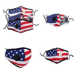 American Flag Face Mask Dustproof Haze-proof Breathable Breathing Valve Adult Protective Masks Trump Mask DA598