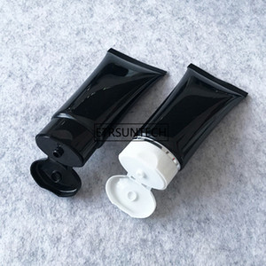 50ml Black Empty Plastic Cosmetic Tubes Facial Cleanser Hand Cream Lotion Packaging Bottles F1924