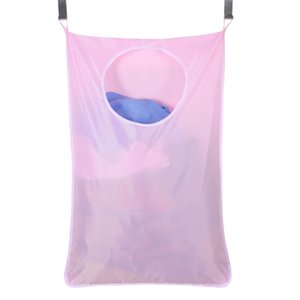 Household Door Hanging Laundry Hamper Extra Large Wall Mounted Laundry Organizer Bag with Stainless Steel and Suction Cup Hook