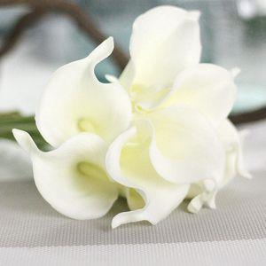 Künstliche Blumen Günstige PU Calla Lily für Hauptdekoration Hochzeit Liefert Brautstrauß Künstliche Blumen