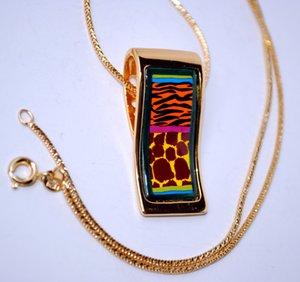 """Wild Africa Serie Necklaces18K vergoldeten Emaillehalsketten für Frauen Top-Qualität """"S"""" -Form Anhänger Halskette colar Halskette Frauen"""