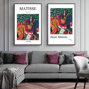 침실 인테리어 홈 인테리어 Cuadros에 대한 앙리 마티스 클래식 캔버스 유화 빈티지 그림 포스터 인쇄 추상 벽 예술 사진