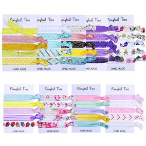 Crianças headbands florais brilho cabelo gravatas bebé hairbands corda ponto crianças hairbands elásticos acessórios de cabelo artesanais