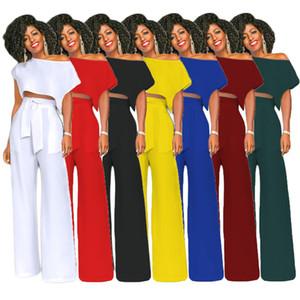 Tasarımcı Yaz Kadın Giyim pantolon sıcak Geniş bacak pantolon kadın jumpsuits tulum iki parça kıyafet Kadınlar Giyim Setleri