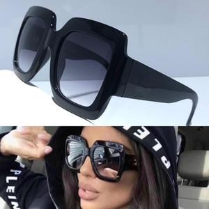 Le donne popolari Goggle Occhiali da Sole 0053 Estate generoso Stile Quadrato Full frame superiore di colore solido occhiali di protezione UV 0053S