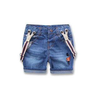 Boys Pants Children Girls Baby Boys Summer Denim Shorts Embroidery Cartoon Jeans Trousers Kids Jeans Children's Clothing