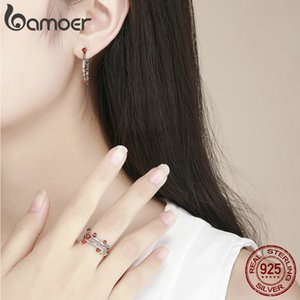 Wholesale-Silver Jewelry Set Adjustable Autumn Tree Leaves Branch Finger Ring & Earring Fashion Women Engagement Valentine's Day Gift