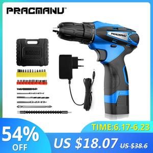 PRACMANU 12V Trapano avvitatore a batteria Trapano elettrico mini utensile elettrico cacciavite elettrico a batteria