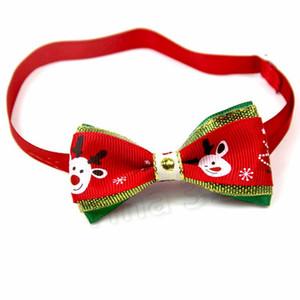 10 estilo de Natal pet laços gravatas pet cão arco laços colar acessórios pet gato Bow Tie Dog coleiras Suprimentos T2I5663