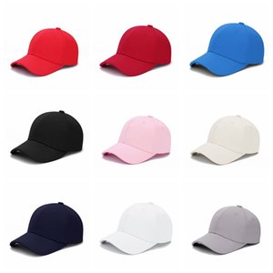 Solide Baseball Cap Baumwolle doppelt glasierte Platte Hut verstellbare Hysteresenhut Hip Hop Baseball Caps Outdoor Sonnencreme Hüte GGA2357