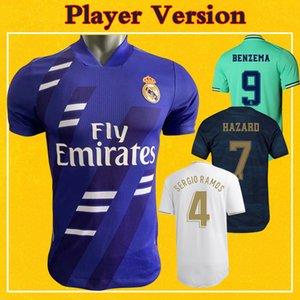 Jogador versão real Jerseys 2021 clássico Soccer Jersey Home Away 19 20 21 Maillot De Pé PERIGO DE SERGIO RAMOS Football Shirt Madrid
