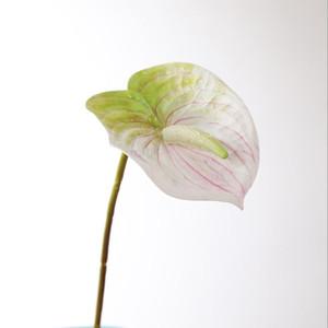 simulación real del tacto de las flores artificiales flores de seda Anthurium Sala decoración del hogar Habitación Hotel para matrimonio pared de la flor