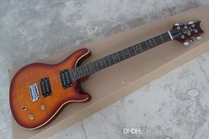 Großhandel handgemachte Vögel Inlay Griffbrett Festkörper PRS Charcoal E-Gitarre
