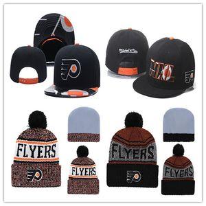 Филадельфия Флайерз Хоккей Вязаные шапочки Вышивка Регулируемая шапка Вышитые шапки Snapback Оранжевые белые черные сшитые шляпы