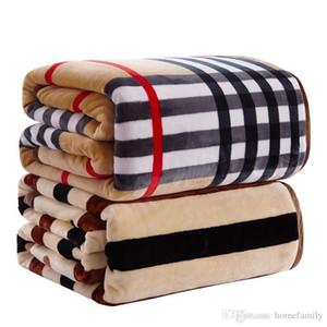 Luxus Striped Flanell-Decke Winter-Coral Abdeckung Hot Home Textile super warme weiche Decken-Wurf Freies Verschiffen